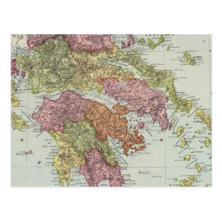 Grecia 4 tarjetas postales