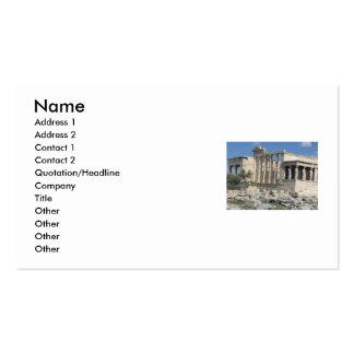 Grecia antigua - la acrópolis - tarjeta de visita