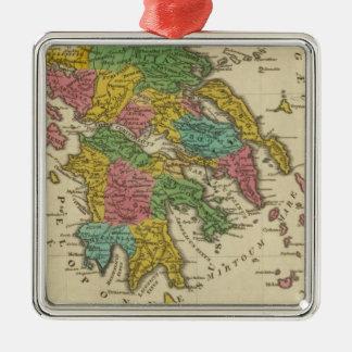 Grecia Antiqua Adorno Navideño Cuadrado De Metal