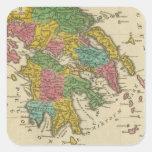 Grecia Antiqua Pegatina Cuadrada