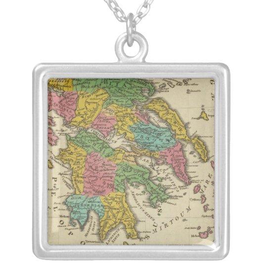 Grecia Antiqua Silver Plated Necklace