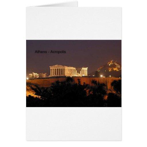 Grecia - Atenas - acrópolis (por St.K) Tarjeta De Felicitación