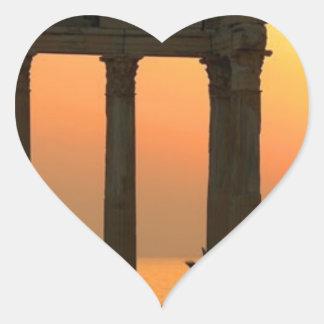Grecia Atenas (nueva) (St.K) Pegatina En Forma De Corazón