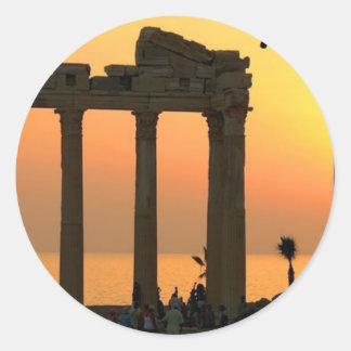 Grecia Atenas (nueva) (St.K) Pegatina Redonda