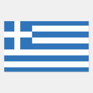Grecia - bandera nacional griega pegatina rectangular
