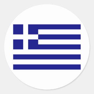 Grecia-Bandera Pegatina Redonda