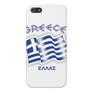 Grecia - bandera que agita griega iPhone 5 fundas