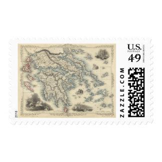 Grecia con los mapas de inserción de Corfú y de Envio