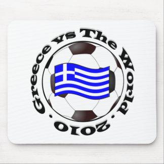 Grecia contra el mundo mouse pad