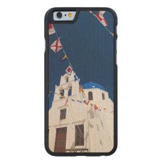 Grecia e isla griega de la ciudad de Santorini de Funda De iPhone 6 Carved® Slim De Arce