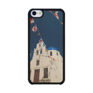 Grecia e isla griega de la ciudad de Santorini de Funda De iPhone 5C Slim Arce