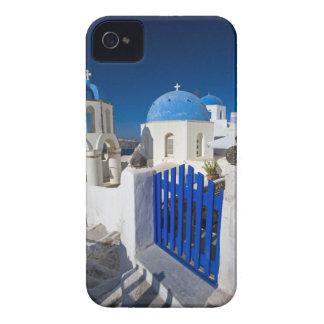 Grecia e isla griega de la ciudad de Santorini de  iPhone 4 Case-Mate Cobertura