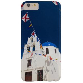 Grecia e isla griega de la ciudad de Santorini de Funda De iPhone 6 Plus Barely There