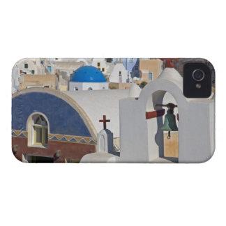 Grecia e isla griega de la ciudad de Santorini de  iPhone 4 Case-Mate Fundas