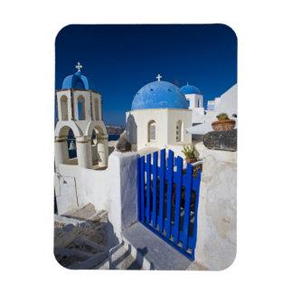 Grecia e isla griega de la ciudad de Santorini de  Imán
