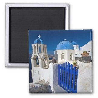 Grecia e isla griega de la ciudad de Santorini de  Imán Cuadrado