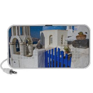 Grecia e isla griega de la ciudad de Santorini de  Laptop Altavoz