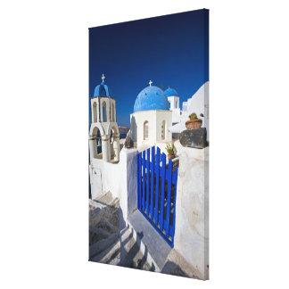 Grecia e isla griega de la ciudad de Santorini de  Impresiones En Lienzo Estiradas