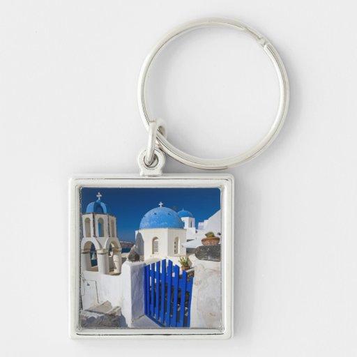 Grecia e isla griega de la ciudad de Santorini de  Llaveros Personalizados