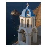 Grecia e isla griega de la ciudad de Santorini de  Impresiones