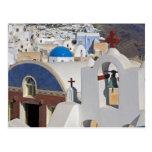 Grecia e isla griega de la ciudad de Santorini de Postales