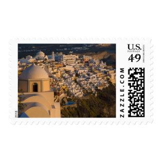 Grecia e isla griega de la ciudad de Santorini de Sello