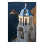 Grecia e isla griega de la ciudad de Santorini de  Tarjeta De Felicitación