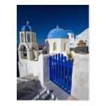 Grecia e isla griega de la ciudad de Santorini de Tarjeta Postal