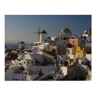 Grecia e isla griega de la ciudad de Santorini de Postal
