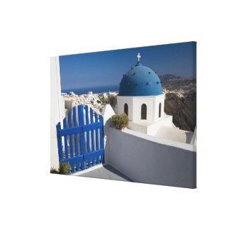 Grecia e isla griega de Santorini del Impresiones En Lona