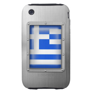Grecia en acero inoxidable funda resistente para iPhone 3