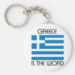 Grecia es la palabra llaveros personalizados