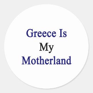 Grecia es mi patria pegatina redonda