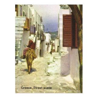 Grecia, escena de la calle tarjeta postal