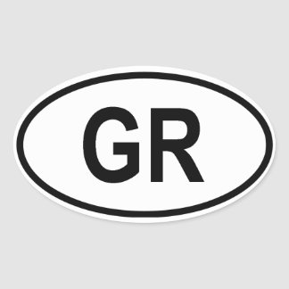 "Grecia ""GR "" Pegatina Ovalada"