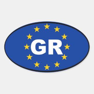 Grecia - GR - unión europea Calcomanía De Óval Personalizadas