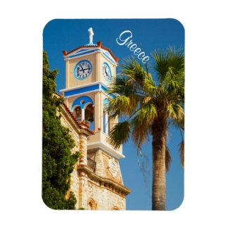 Grecia - iglesia griega ortodoxa con la palmera imán foto rectangular