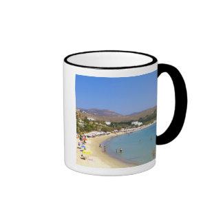 Grecia, isla de Paros, playa de Krios desde arriba Taza De Dos Colores