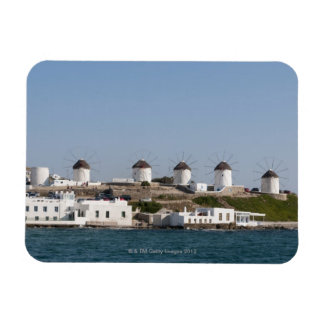 Grecia, islas de Cícladas, Mykonos, ciudad de Myko Imanes Rectangulares