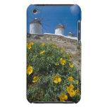 Grecia, islas de Cícladas, Mykonos, florece cerca Barely There iPod Funda