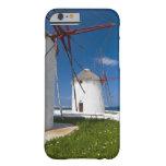 Grecia, islas de Cícladas, Mykonos, molinoes de Funda De iPhone 6 Barely There
