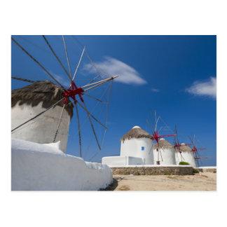Grecia, islas de Cícladas, Mykonos, molinoes de Postal