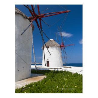Grecia, islas de Cícladas, Mykonos, molinoes de Tarjeta Postal