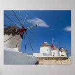Grecia, islas de Cícladas, Mykonos, molinoes de vi Posters