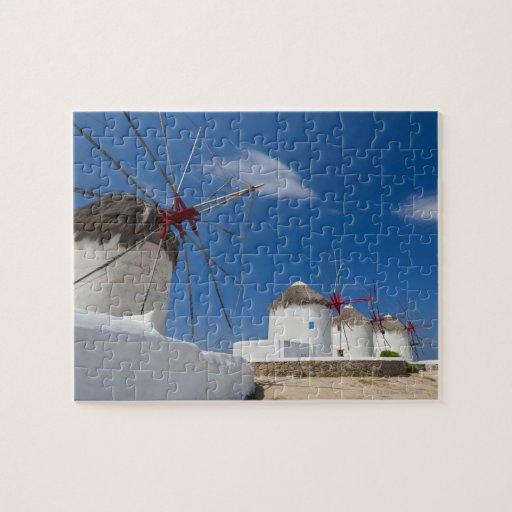 Grecia, islas de Cícladas, Mykonos, molinoes de vi Puzzles Con Fotos