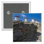Grecia, islas de Cícladas, Mykonos, pared de Pin Cuadrado