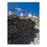 Grecia, islas de Cícladas, Mykonos, pared de Postal
