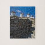 Grecia, islas de Cícladas, Mykonos, pared de Puzzles