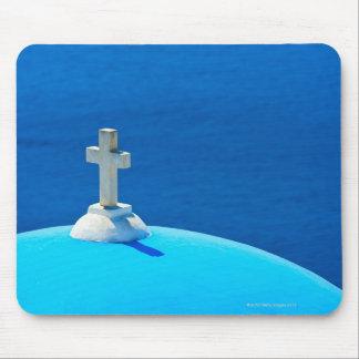 Grecia, islas de Cícladas, Santorini, Oia, iglesia Tapete De Ratón