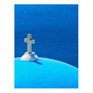 Grecia, islas de Cícladas, Santorini, Oia, iglesia Tarjetas Postales